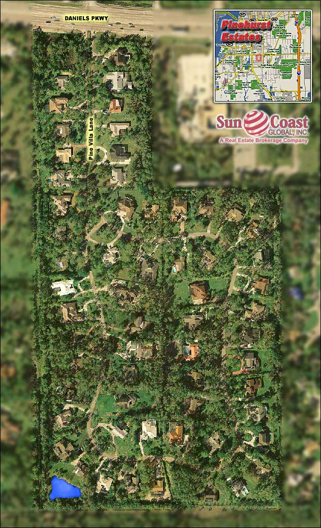 Pinehurst Estates Overhead Map