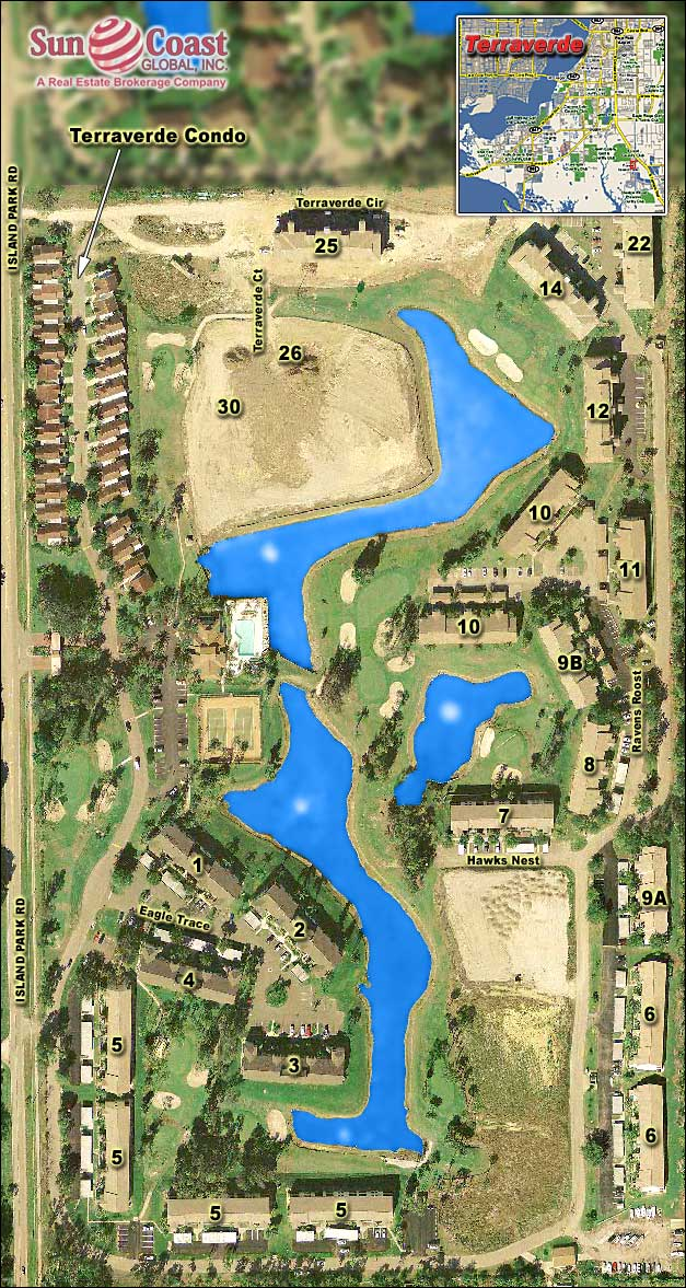 Terraverde Country Club Overhead Map