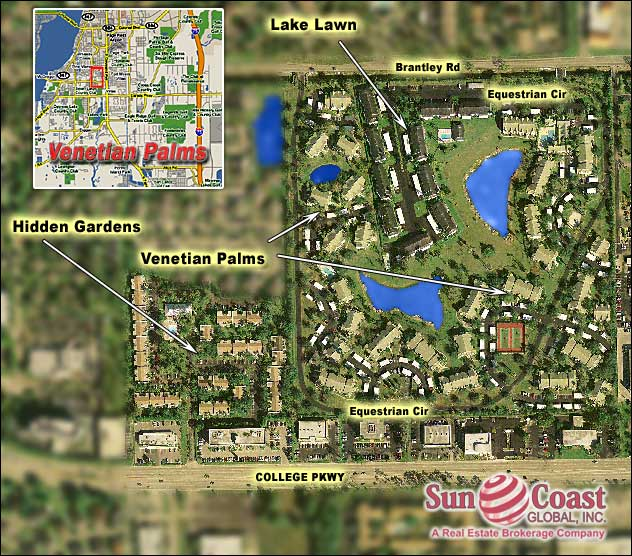 Venetian Palms Overhead Map