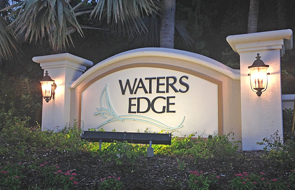 Waters Edge Signage