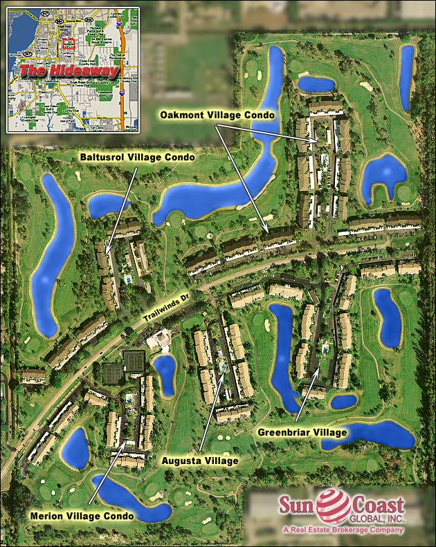 Hideaway Country Club Overhead Map
