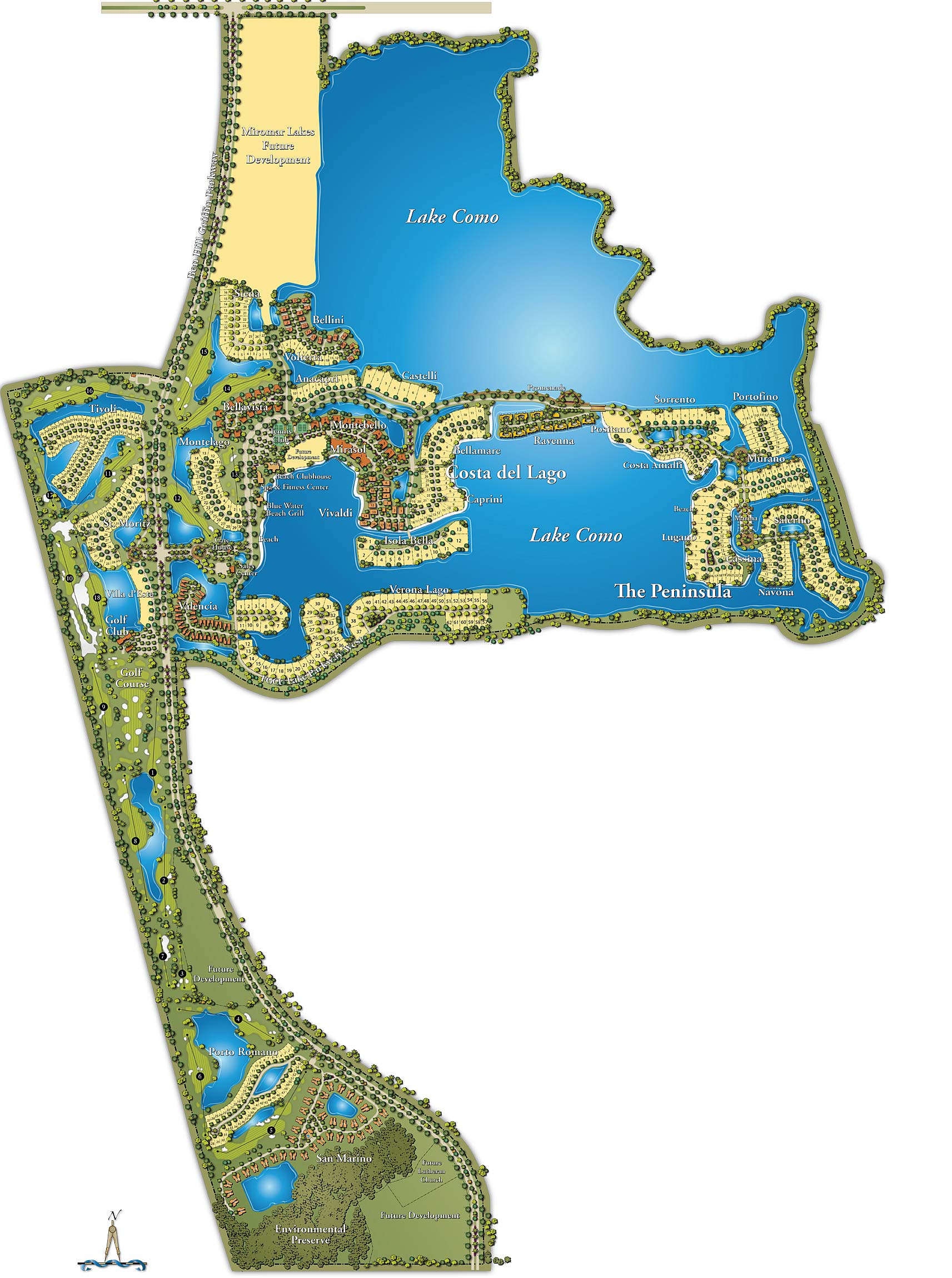 Miromar Lakes Beach And Golf Club Site Map