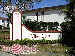 Villa Capri Community Sign