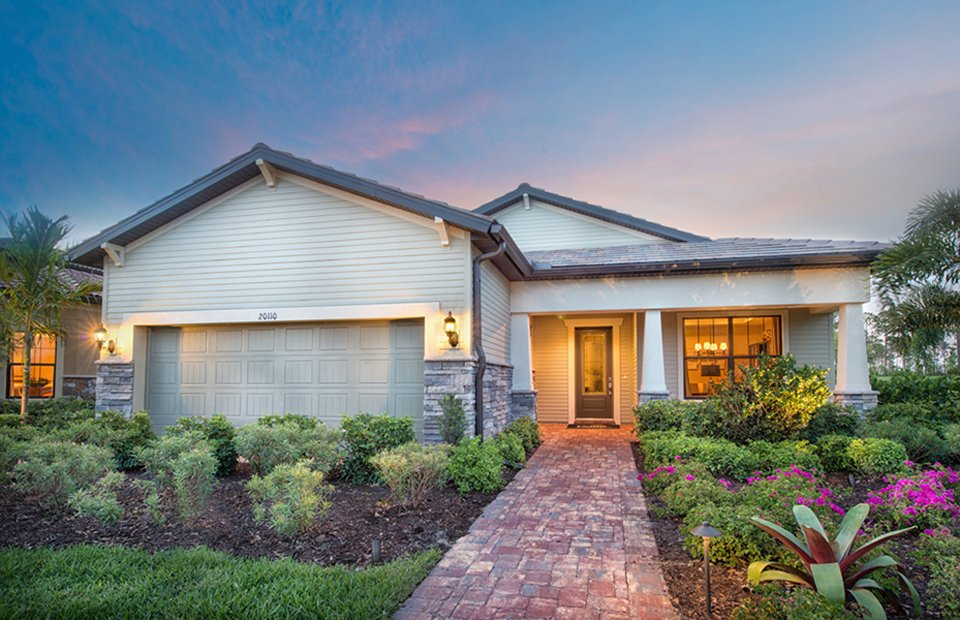 Martin Ray Model Home in Waters Edge at Peppertree Pointe, Fort Myers, by Pulte