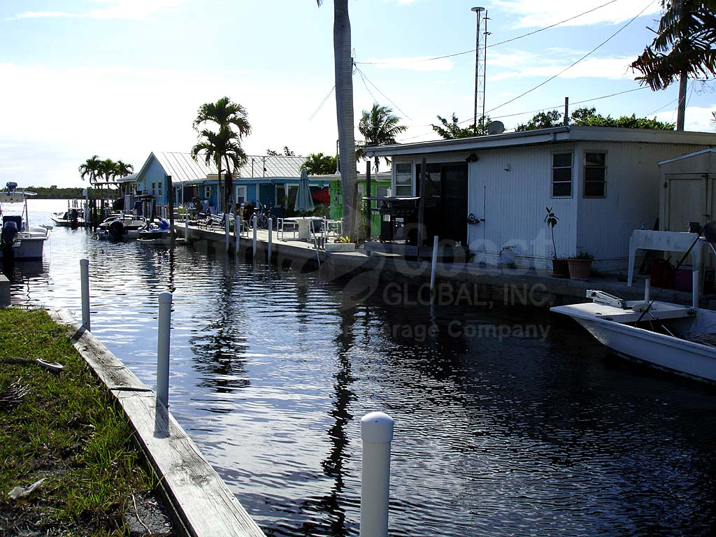 View Down the Canal From Matlacha Area Mobile Homes