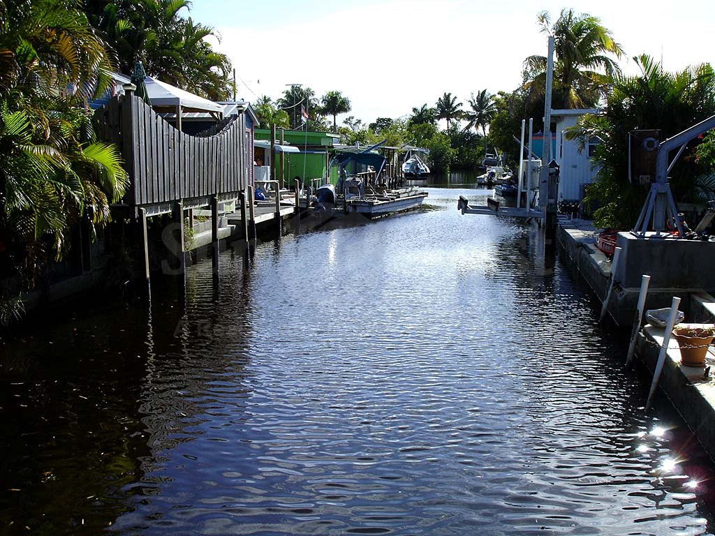 View Down the Canal From Pine Island Resort Club