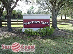 Hunters Glen Community Sign