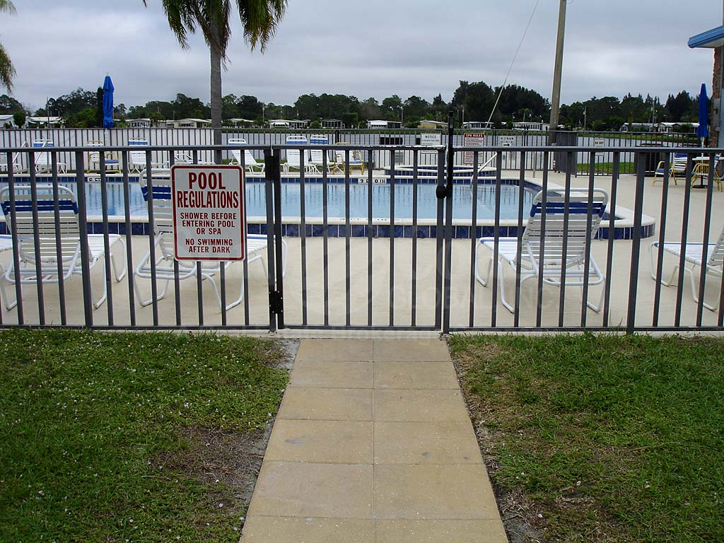 Lake Arrowhead Village Community Pool Safety Fence