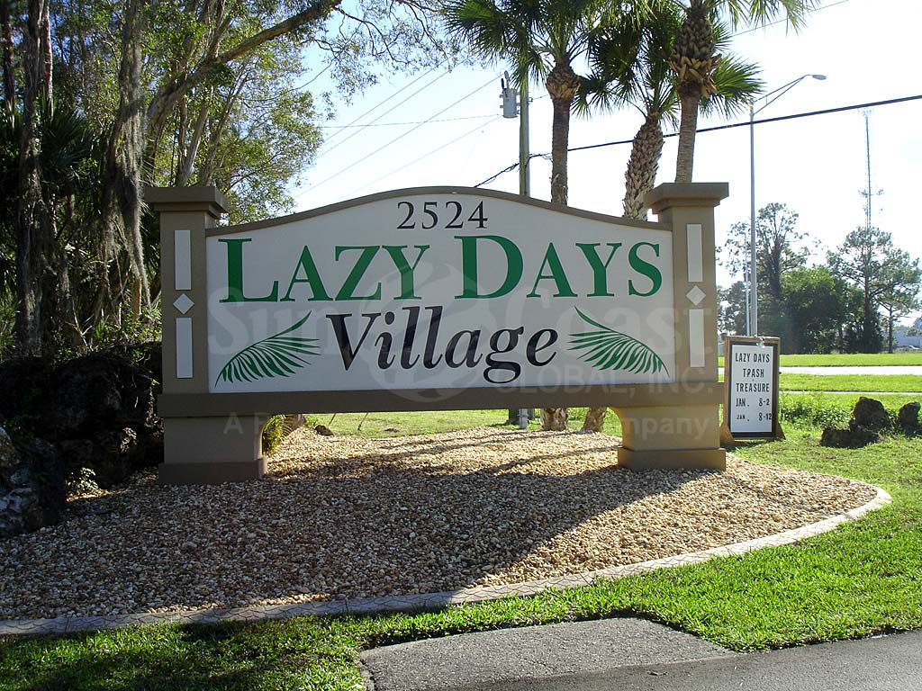 Lazy Days Village Signage