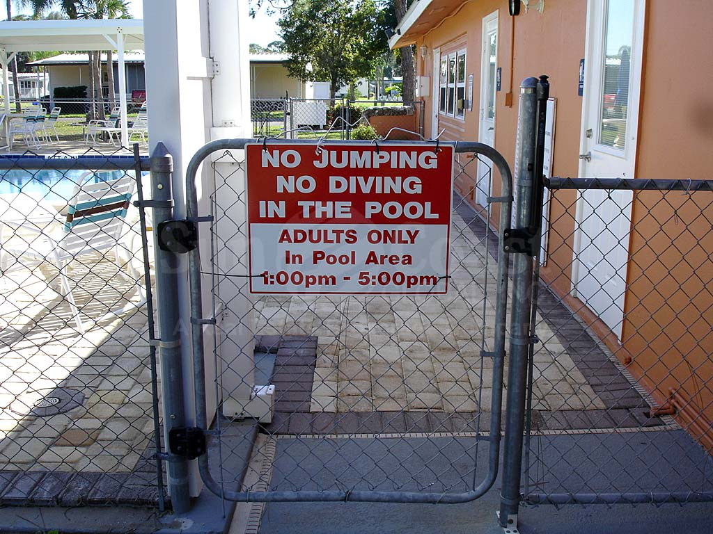 Lazy Days Village Community Pool Safety Fence