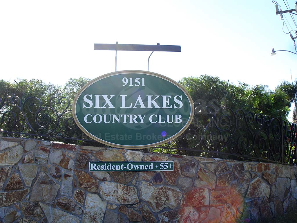 Six Lakes Country Club Signage