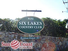 Six Lakes Country Club Community Sign