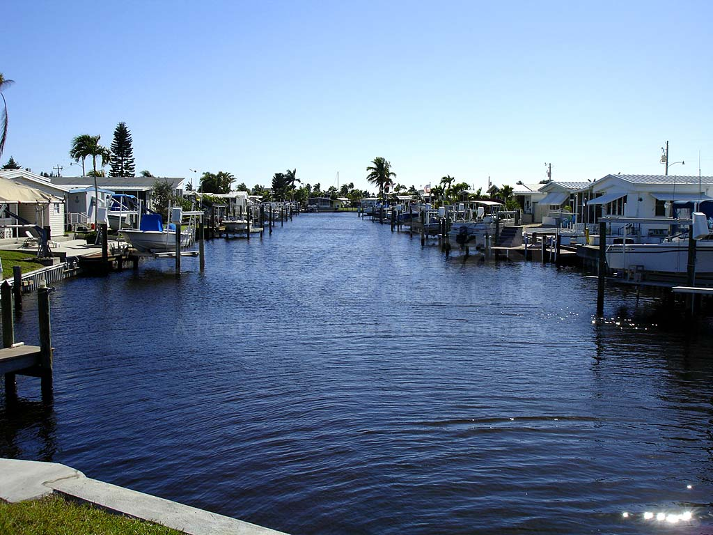 View Down the Canal From St. James City Area Mobile Homes